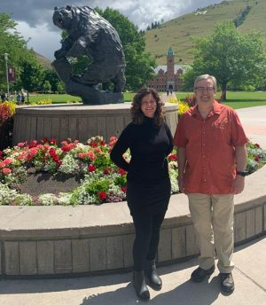 Joel Iverson PhD and Danielle Farley at the University of Montana