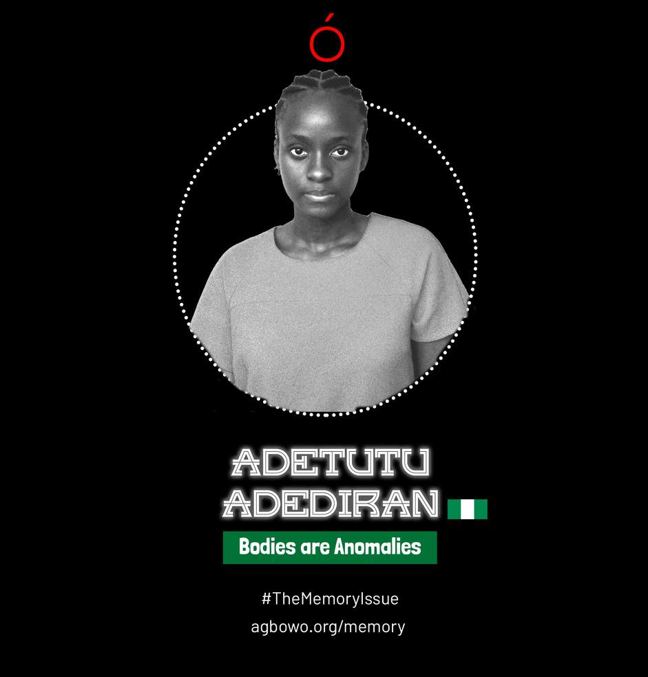 Adetutu Adeniran The Memory Issue Agbowo Art Magazine