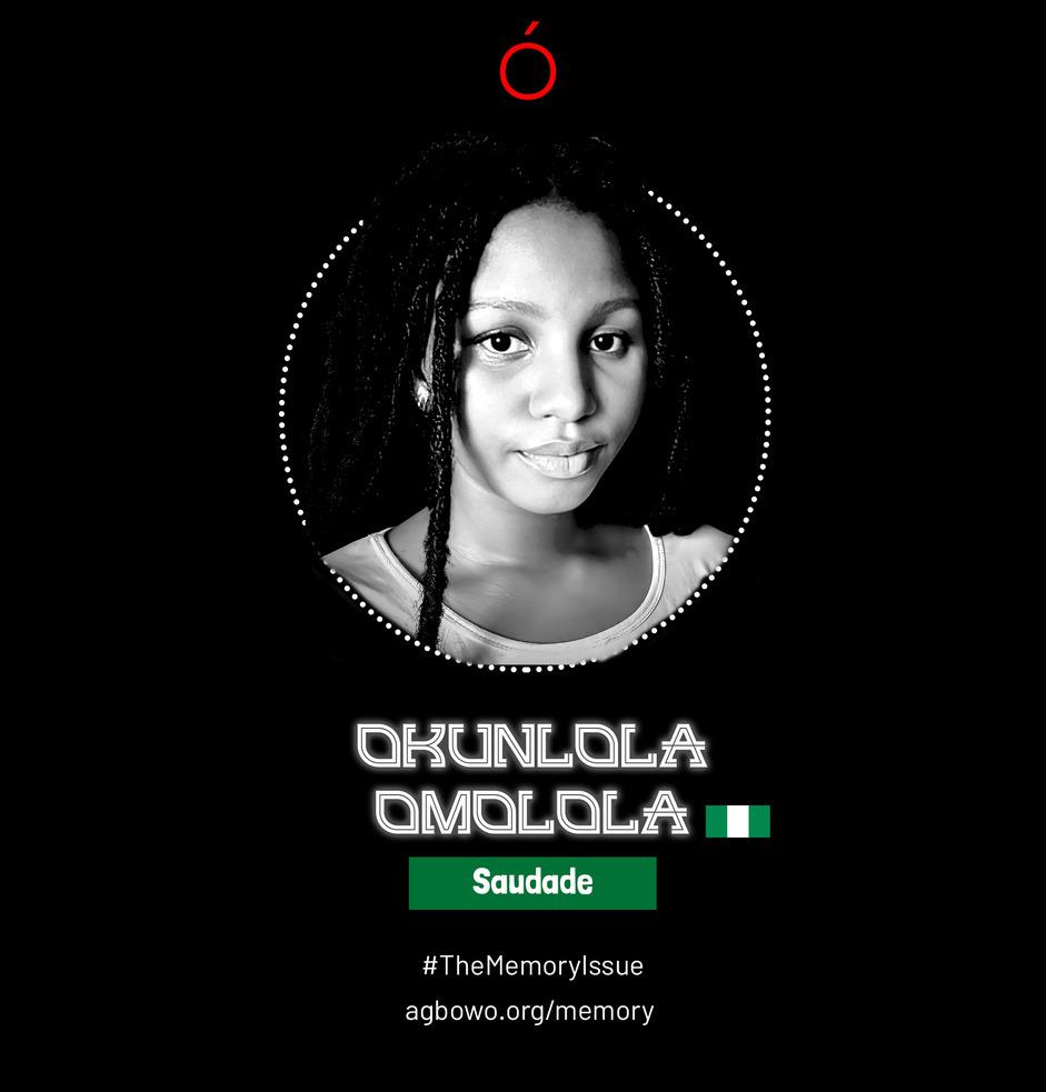Okunola Omolola The Memory Issue Agbowo Art Magazine