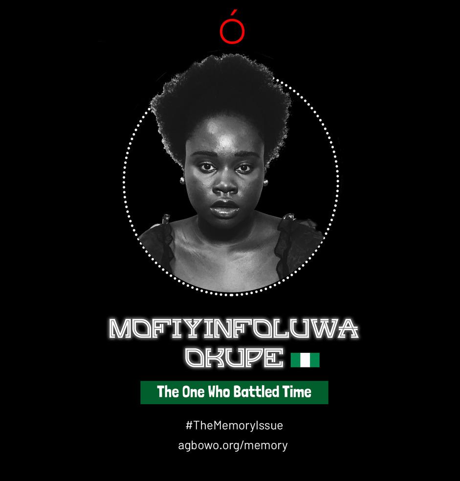 Mofiyinfoluwa Okupe The Memory Issue Agbowo Art Magazine