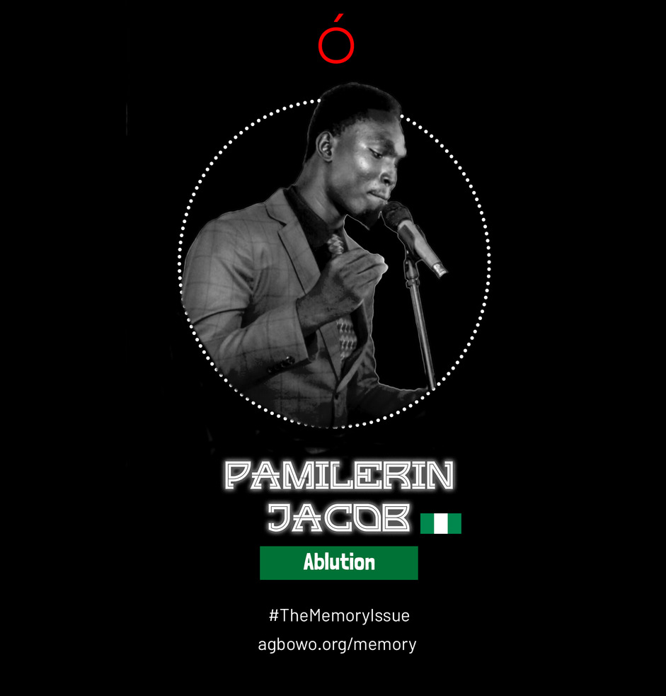 Pamilerin Jacob The Memory Issue Agbowo Art Magazine