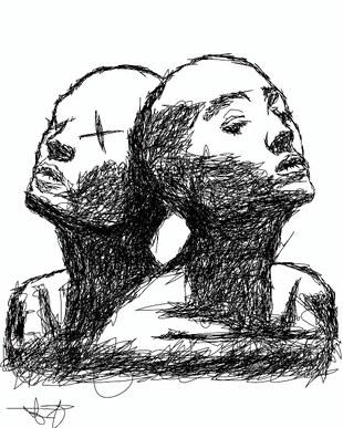 Akhona Mbange - Siblings Agbowo Art African Literary Art