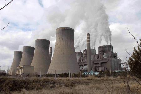 Termik santralinde kül atan ünite bakıma alındı