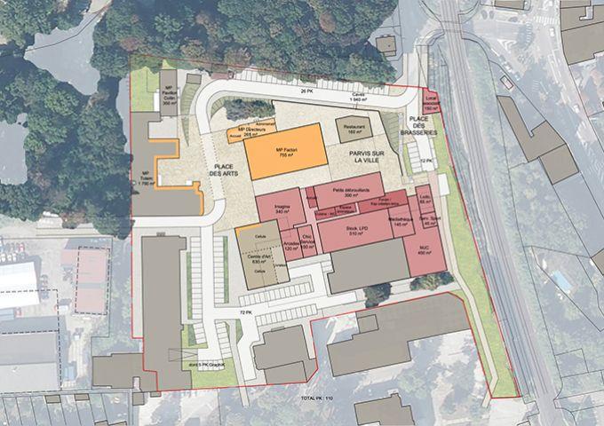 Maxeville : Plan du niveau rez-de-chaussée