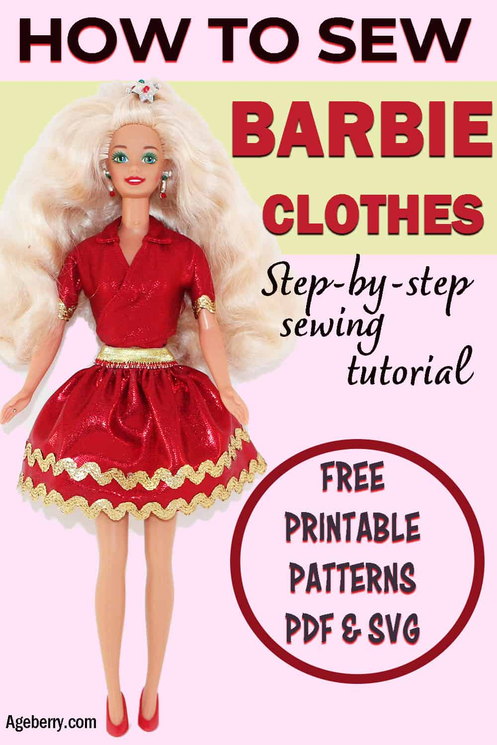 Free Printable Barbie Clothes Sewing Patterns : printable, barbie, clothes, sewing, patterns, Barbie, Clothes, Video, Sewing, Tutorial, Printable, Patterns