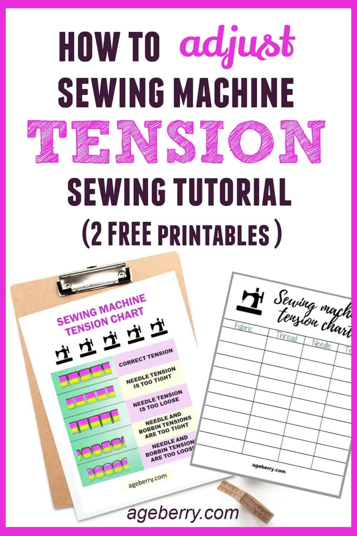 Sewing Machine Tension Chart : sewing, machine, tension, chart, Sewing, Machine, Tension, Adjustment