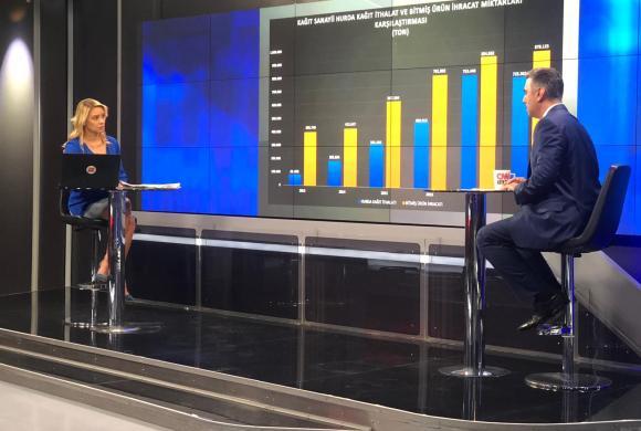 AGED Genel Müdürü Osman Kaytan, CNN TÜRK'te Sıfır Atık ve kağıt geri dönüşüm sanayiini anlattı