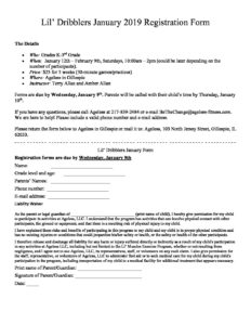 La Fitness Cancellation Form Pdf 2019 : fitness, cancellation, Dribblers, Registration, Ageless, Fitness, Little, Illinois