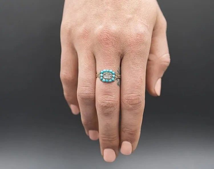 Antique Victorian Turquoise Ring on Etsy