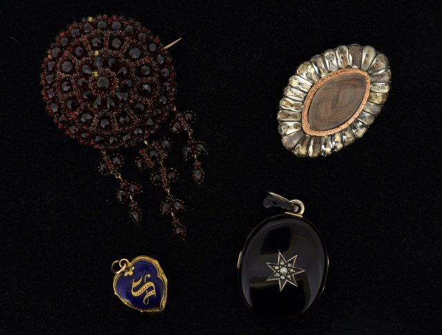 Victorian Pendants and Brooches