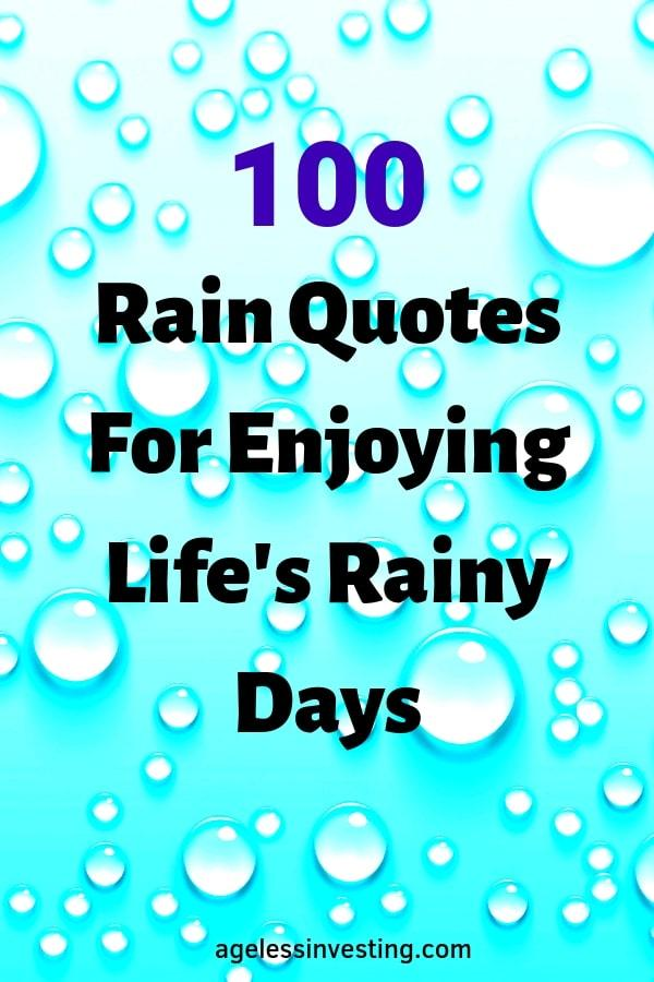 Rain Quotes For Enjoying Life's Rainy Days
