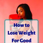 "Photo of a woman wearing boxing gloves, headline ""How to Lose Weight For Good"""