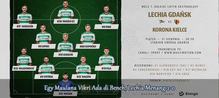 Egy Maulana Vikri Ada di Bench, Lechia Menang 2-0 Agen bola online