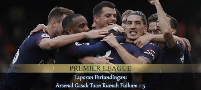Laporan Pertandingan Arsenal Gasak Tuan Rumah Fulham 1-5 Agen bola online