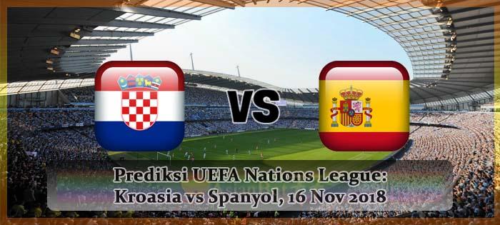 Prediksi UEFA Nations League Kroasia vs Spanyol, 16 Nov 2018 Agen bola online