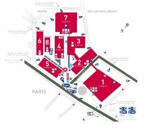 Paris expo Porte de Versailles - 会場図