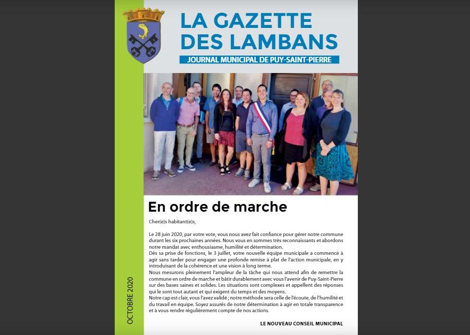 La Gazette des Lambans, journal municipal de Puy-Saint-Pierre