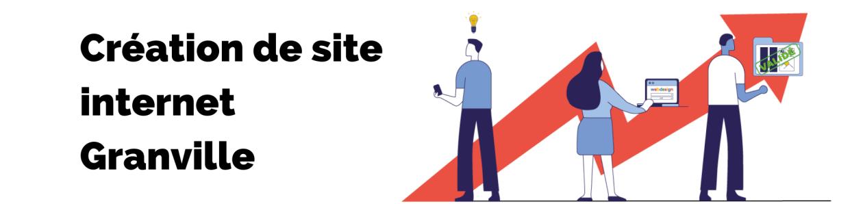 Bannière de la page création de site internet granville