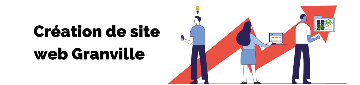 Bannière de la page création de site web granville