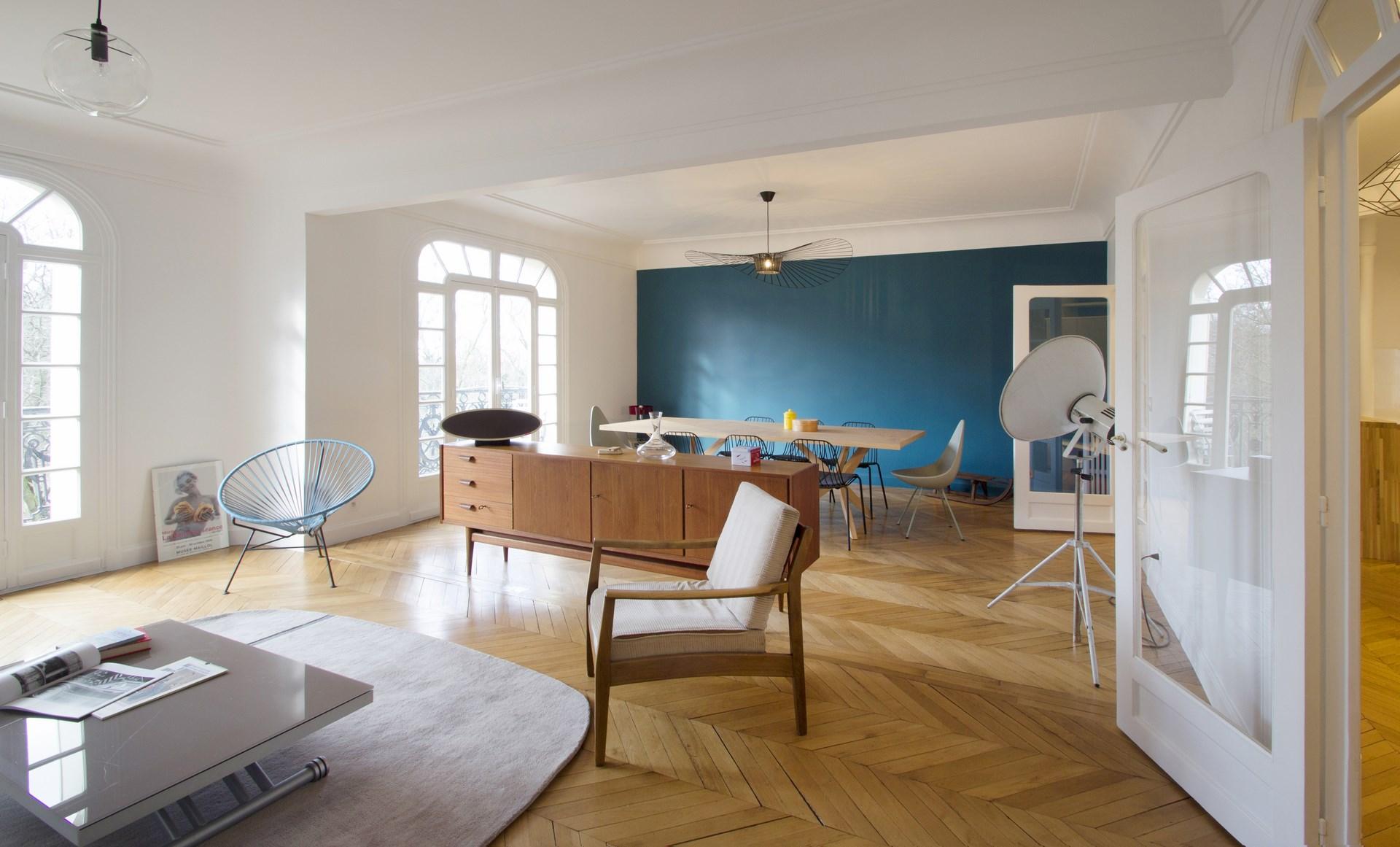 Deco Salon Mur Bleu decoration nordique salon | déco salon scandinave 38 idées