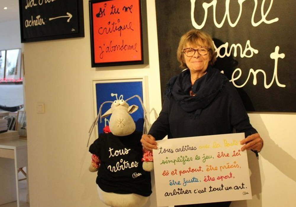 Claude Lamon acueille les œuvres de Ben à l'Espace Titouan Lamazou à Aigues-Mortes