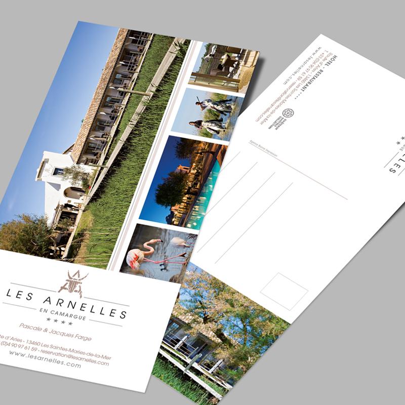 Carte postale/carte de visite Les Arnelles