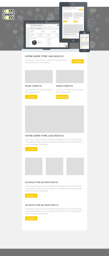 mockup template emailing