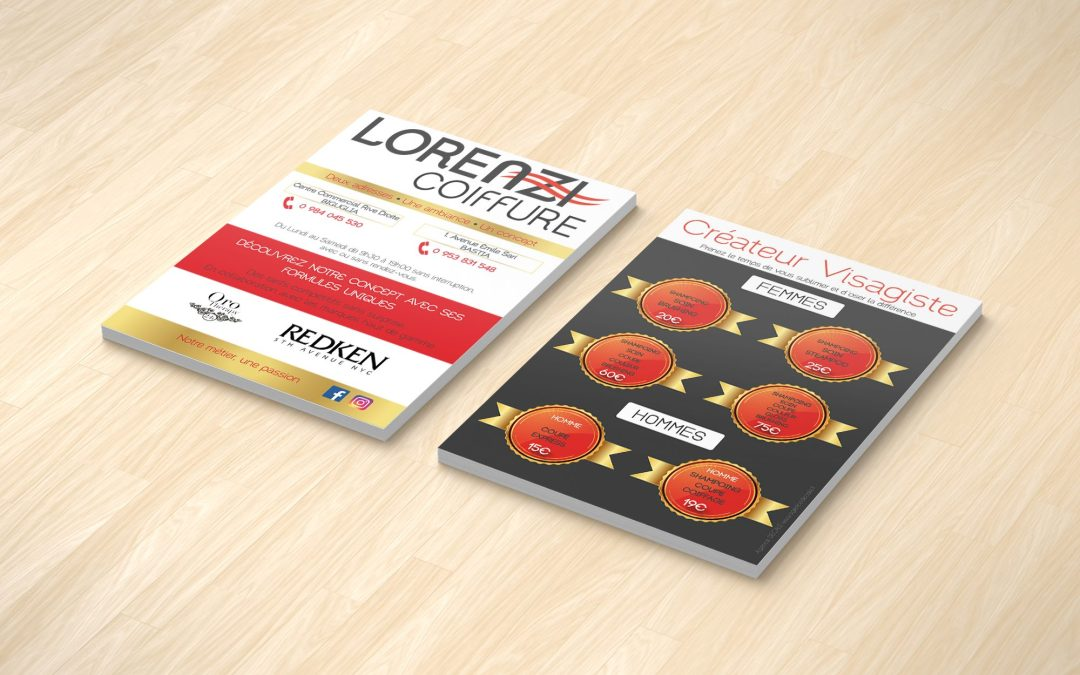 Supports Offline, Lorenzi Coiffure, Agence DECALE