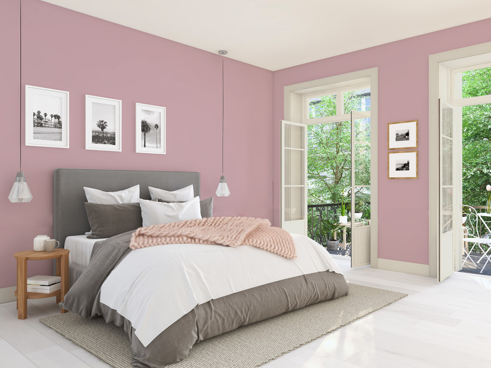chambre parentale et ou d amis style inspiration usa the fifties and sixties american retro murs unis rose l agence des couleurs