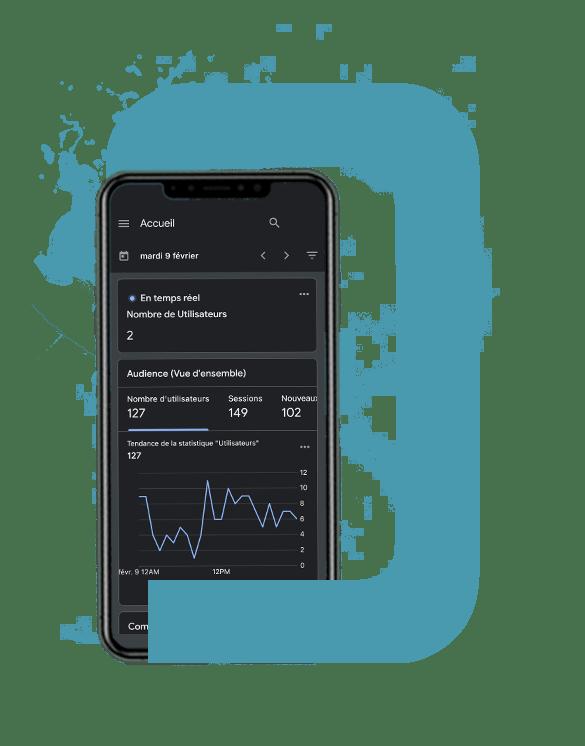 Agence Waves - Mockup offre analyse Google Analytics