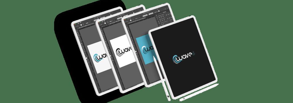 Mock up ipad création de logo - Agence Waves