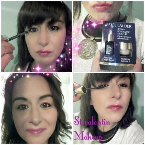 Article St Valentin makeup