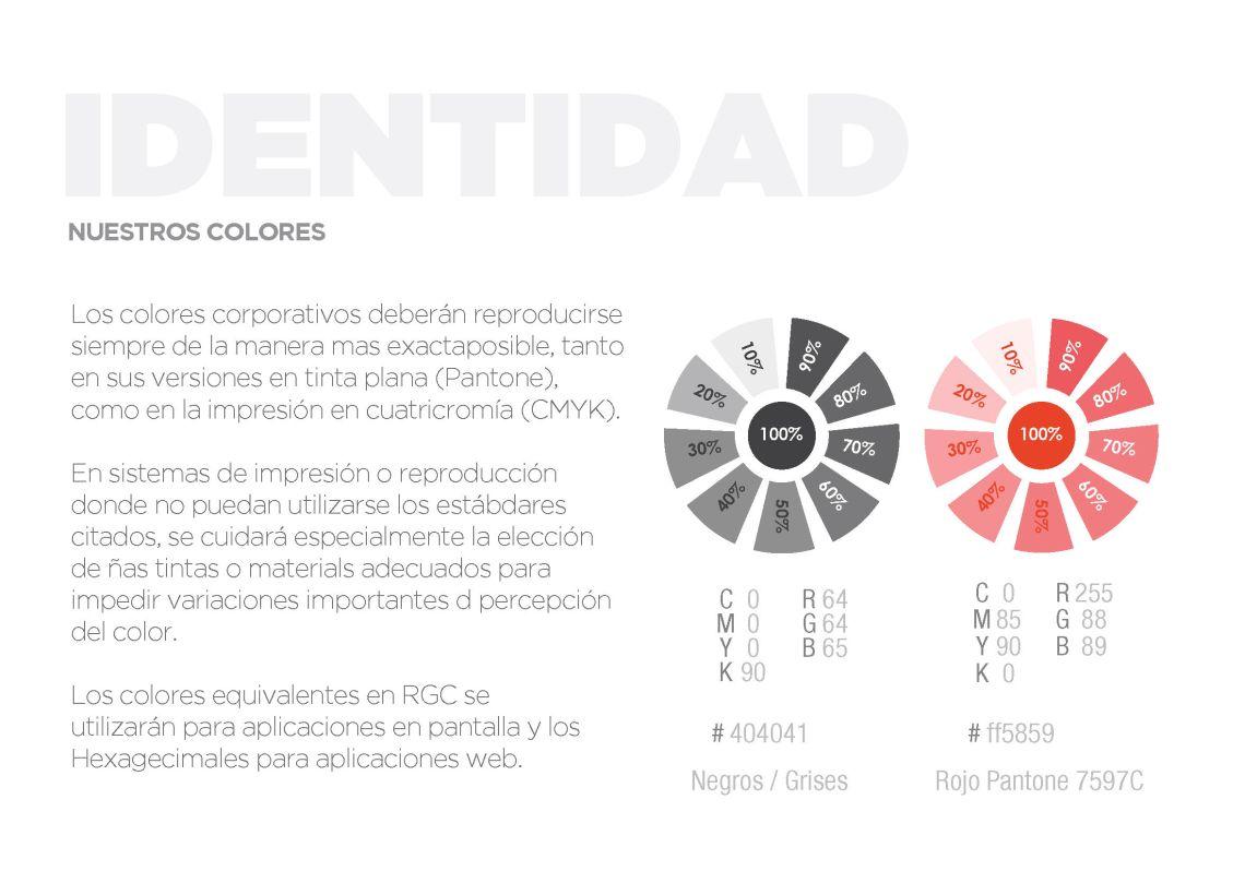 color Manual de identidad corporativa rock brand design madrid