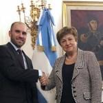 Guzmán y Georgieva se reunieron en Roma para discutir el futuro de la relación del país con el FMI
