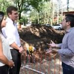 """Leo Nardini recorrió el inicio de la obra de pavimentación e hidráulica en el barrio """"La Pradera"""""""
