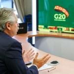 El presidente Fernández participa este fin de semana de la Cumbre del G-20 por videoconferencia desde la Residencia de Chapadmalal