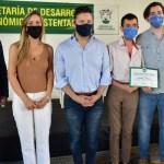 """Gustavo Menéndez distinguió a empresarios merlenses: """"Estos empresarios son grandes responsables del crecimiento de nuestro distrito"""""""