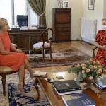 La primera dama argentina Fabiola Yañez se reunió con su par chilena Cecilia Morel