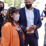 """Leo Nardini recibió a la ministra de Gobierno de la Provincia Teresa García y visitaron el operativo """"Malvinas sos vos"""""""