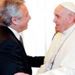 El Presidente Fernández felicitó al Papa Francisco en el octavo aniversario de su Pontificado