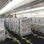 Llegó el segundo vuelo de Aerolíneas Argentinas con más de 730 mil dosis de la vacuna Sputnik V
