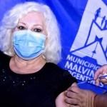 """La actriz Luisa Albinoni recibió su vacuna contra el coronavirus: """"Me siento muy orgullosa de pertenecer a Malvinas Argentinas"""""""