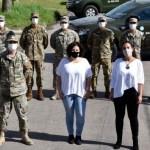 La ministra Vizzotti supervisó el trabajo conjunto que realiza una posta sanitaria del Ejército en La Matanza