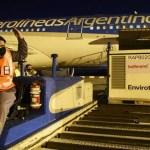 Un nuevo vuelo de Aerolíneas Argentinas con más dosis de vacunas Sputnik V regresa este domingo a la Argentina desde Moscú