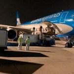 Vuelo de Aerolíneas Argentinas hacia Moscú para traer el primer lote del principio activo de la vacuna Sputnik V