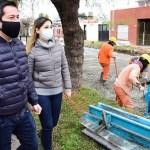 """Nardini visitó las obras de los barrios El Sol y El Jagüel: """"Seguimos trabajando a pleno con obras que generan y reactivan la economía"""""""