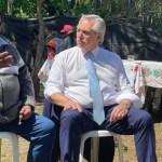 Alberto Fernández visitó Merlo: «Mano a mano con los vecinos»