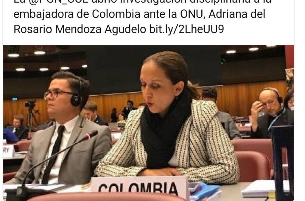 PGN investiga a Embajadora de Colombia ante la ONU por presuntos malos manejos de recursos públicos