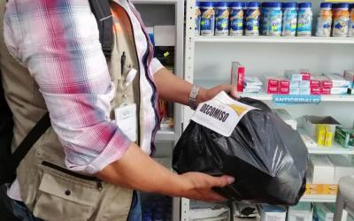 1.961 medicamentos vencidos y de uso institucional decomisados en el Valle