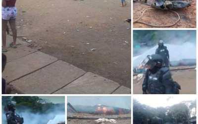 Comunidad minera de Córdoba denuncia desalojo. Con sierras y gasolina ESMAD acabó con todo